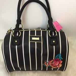 NWT Betsey Johnson floral tote handbag purse